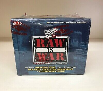 WWE / WWF Raw is War - Sealed Trading Card Hobby Box - Fleer 2001
