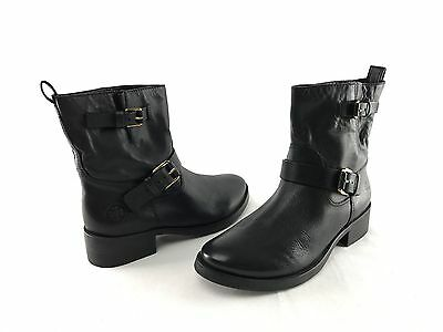 44298a888a5b NEW Tory Burch Bennie Women s Black Leather Ankle Boots US Size 7.5 M Shoes  393