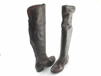 d24b5e7ae6e Vince Camuto Baldwin Women s Brown Leather Over Knee Boots US 8.5 M Shoes   672