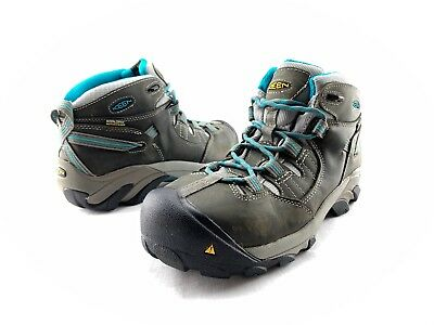 84a70802ed6 Keen Detroit Mid Women's Dark Leather Steel Toe Work Safety Boots US 8.5 M  C740
