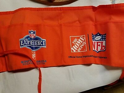 "Home Depot Canvas Work Apron. Rare ""NFL Experience"", South Fl Dolphin Stadium"""