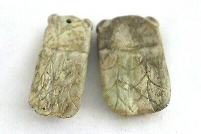 Old Primitive Antique Chinese Carving Cicada Insect Bead Lot Pendant Dynasty Art