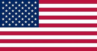 New US American Flag 3'x5' Poly/Nylon  Stars and Sewn Stripes stock in US