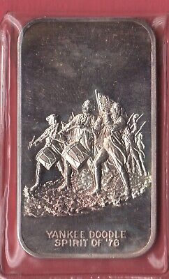 One Ounce .999 Silver Bar--Yankee Doodle Spirit Of '76...1973