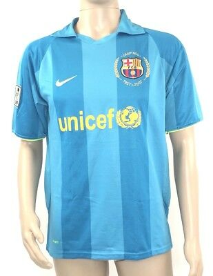 e5a6a7431fd Nike Mens Barcelona Anniversary Jersey 2007 2008 Lionel Messi Blue Size  Large