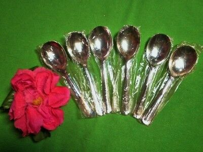 Vintage Dessert Spoons X6 Silver Plated Unused Nswg Grosvenor Delphic 4 Availabl