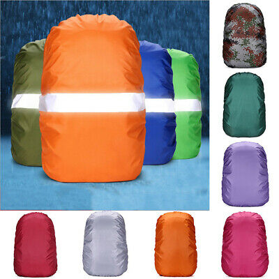 Waterproof Dust Rain Poncho Backpack Cover Travel Camping Hiking Bag 20-60L