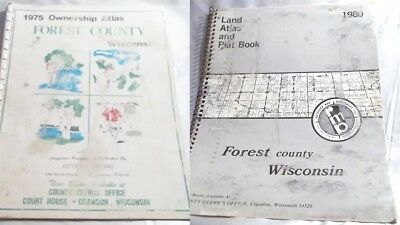 Forest County WI Atlas & Plat Books 1975 & 1980 ~plat