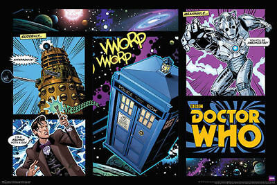 Doctor Who Comic Strip Poster