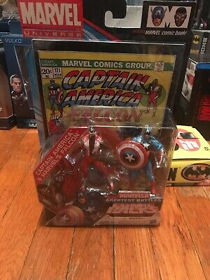 Marvel Universe CAPTAIN AMERICA and FALCON Greatest Battles Comic Packs carded