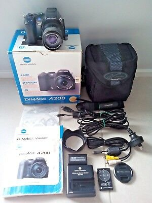 Konica Minolta Dimage A200 8.0 Mp Digital Camera(Own Box) Plus Accessories & Bag