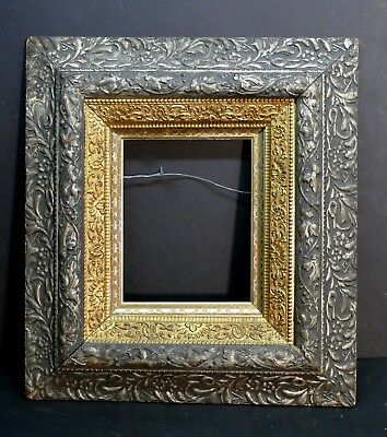 Stunning Antique 3 Layer Intricately Ornate Gilded American Museum Frame 10 x 8