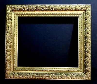 Large Antique 1800's American (New York) Ornate gilded Museum Frame 18+ x 15+