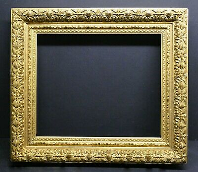Beautiful Antique 3 level Ornate Gilded Early American Frame  18 1/4 x 15 1/4