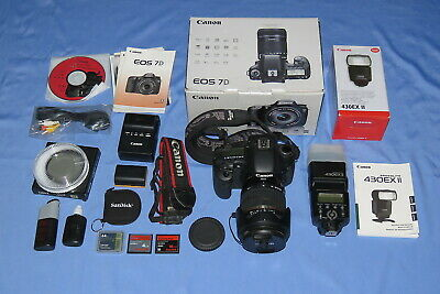 Canon EOS 7D DSLR w/Tamron 18-270 lens, Canon 430EX II flash + filters & more