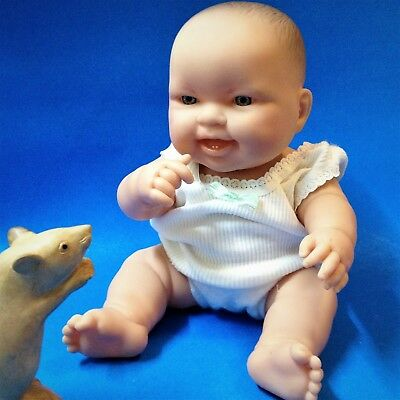 Berenguer Happy Baby Doll - 32cm, PVC Body , Blue Eyes - Great Pre-loved Con