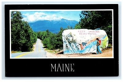 Postcard Pockwocamus Rock, Land Mark on Road to Katahdin, Maine A20