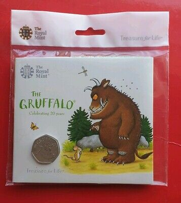 The Gruffalo 50p brilliant Uncirculated coin the royal mint Presentation pack