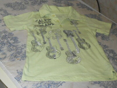 Children's Calvin Klein Jeans Electric Guitar Patterned Short Sleeved Shirt