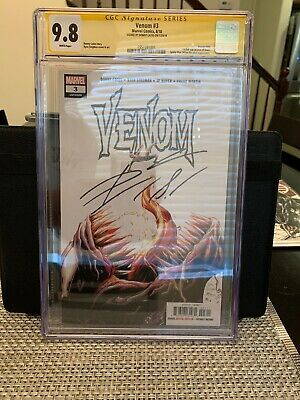 Venom #3 2018 1st APPEARANCE OF KNULL CGC 9.8 Signed By: Donnie Cates Variant