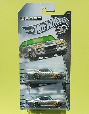 Hot Wheels 50th Anniversary ZAMAC Flames '68 OLDS 442 (5/8) 1:64 -Ships Free