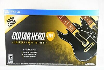 Guitar Hero Live Supreme Party Edition 2 Pack Bundle - PlayStation 4 PS4 NEW