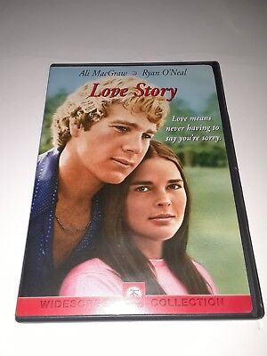 Love Story (DVD, 2001, Widescreen) Ryan O'Neal, Ali MacGraw, excellent condition