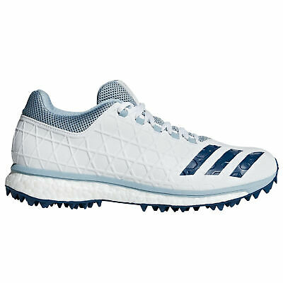 adidas adizero SL22 Boost Mens Adult Cricket Trainer Spike Shoe White/Blue