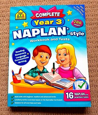 School Zone Complete Year 3 Naplan Style Workbook & Tests NEW with Stickers