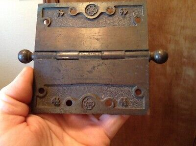 "1 ANTIQUE YALE and TOWNE Y&T 4 1/2"" SOLID BRASS DOOR HINGE Date NOV. 22, 1887"