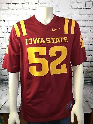 pretty nice 00066 32671 VINTAGE NIKE IOWA State Cyclones Red Yellow #52 Football Jersey Size Medium  Mens