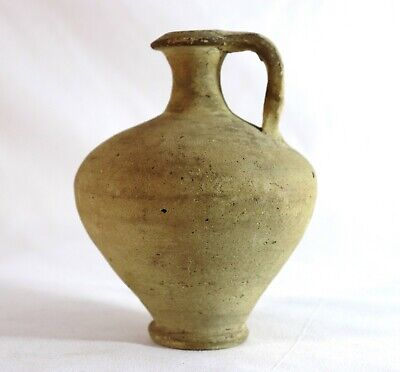Antique Primitive Earthenware Pottery Oil Jug
