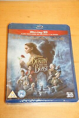 Disney's Beauty & the Beast 3D Live [2017] (Blu-ray 3D/2D Region-0) BN/Open Item