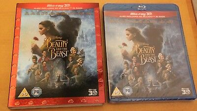Disney Beauty & the Beast 3D [2017] (Blu-ray 3D/2D Region-0) Slipcover BN/SEALED