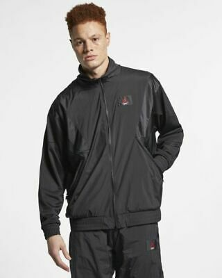 3fd84f01e70 Men's Nike Air Jordan Flight Aj 5 Lightweight Warm-Up Jacket Ao0555-010  Large