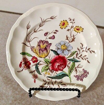 """Copeland Spode Gainsborough Old Mark-Brown 6 5/8"""" Bread and Butter Plate"""