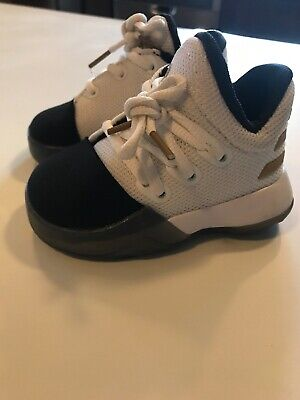 brand new ec7c3 d663f Adidas Harden Vol. 1 Baby Boys Toddler White   Black - Gold Shoes Size 4
