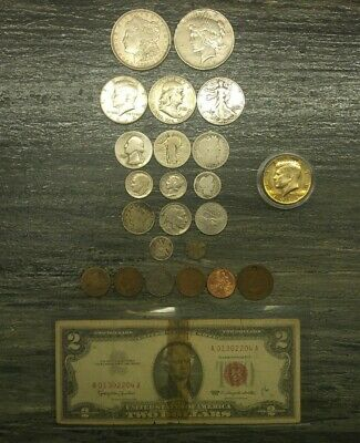 U.S Silver Coin lot , Silver Dollars,Halves,Quarters,Dimes (Great Starter Lot)