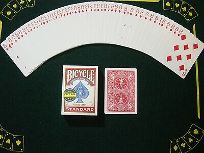 One Way Force Deck - Red Bicycle - Ace Of Diamonds - 52 Cards All The Same - New