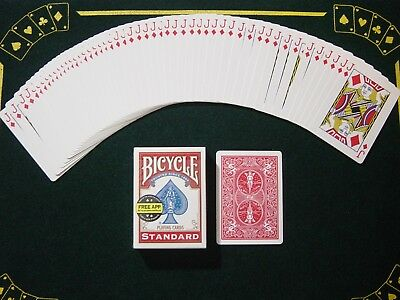 One Way Force Deck - Red Bicycle - Jack Of Diamonds - 52 Cards All The Same  New