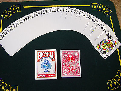 One Way Force Deck - Red Bicycle - Queen Of Clubs - 52 Cards All The Same - New