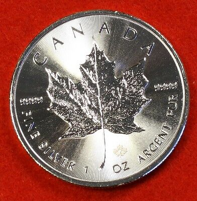 2015 CANADIAN MAPLE LEAF DESIGN 1 oz .9999% SILVER ROUND BULLION COLLECTOR COIN