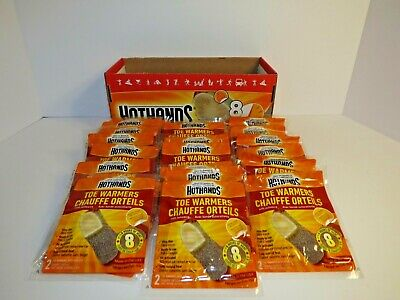 HotHands Toe Warmers Box of 30 Packs of 2 Per Pack New in Box Heatmax Hot Hands