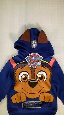 Paw Patrol / Chase Hooded Jumper / Boys / Sizes 2 And 4.