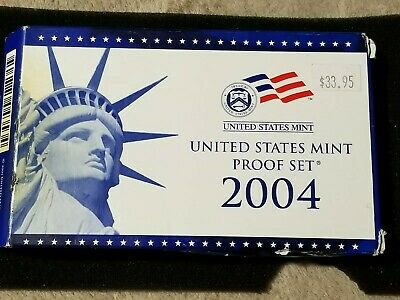 Uncirculated 2004 S United States Mint Proof Coin Set w/CoA EB309