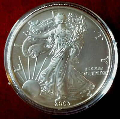 2003 Uncirculated American Eagle 1 Oz Silver Dollar Coin