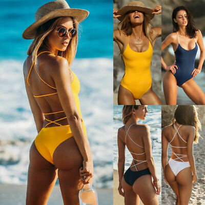 Bikini Bathing Swimsuit Push-up New Monokini Beachwear Women One-Piece Swimwear