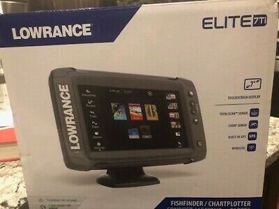 Lowrance Elite-7 Ti Touch Combo Excellent w/Transducer