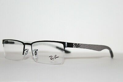 8bba7756e4 New Authentic Ray-Ban Rb 8412 2503 Black Tech Carbon Fiber Eyeglasses Rx 54  Mm