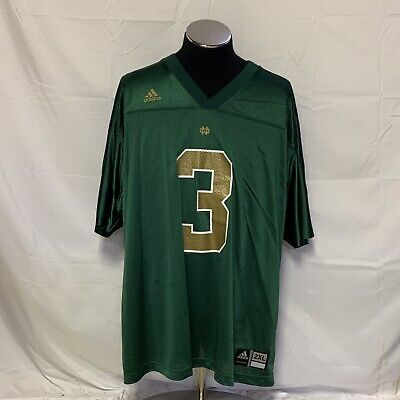 4a690dc0f Vintage Adidas Notre Dame Fighting Irish Green Montana  3 Football Jersey  2XL